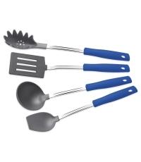Jogo de utensílios Nylon Easy 4 pçs Azul - Tramontina