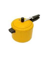Panela de Pressão em Alumínio Pintura Amarela Couraça 4.5L